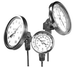 Thermometers, Trerice, Reotemp, Ashcroft, Wika
