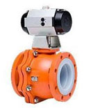 Xomox Teflon lined ball valves