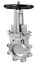 Knife gate valves, O. C. Keckley, A. C. Valves, Pratt Valves, Orbinox